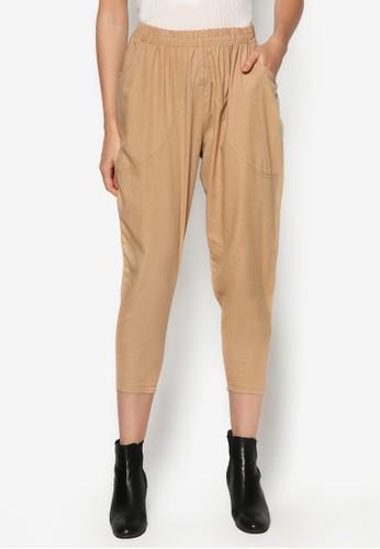 棉麻esprit童裝門市休閒七分褲, 服飾, 九分褲
