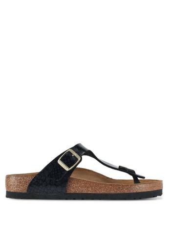 Birkenstock black Gizeh Sandals 01A5BSHB4A7923GS_1