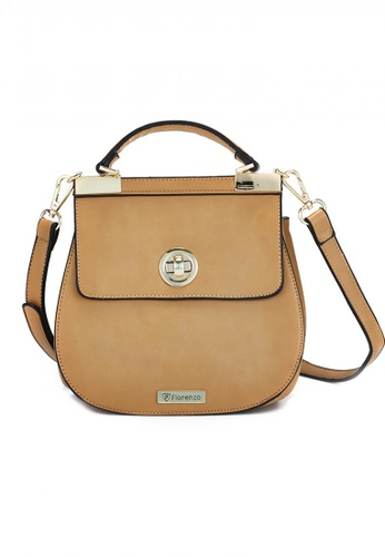 florenzo black and brown Florenzo Top Handle with Adjustable Strap FL898AC0RSWCMY_1