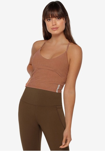 Lorna Jane brown Fast Track Rib Active Tank Top 95718AACB8E3A7GS_1