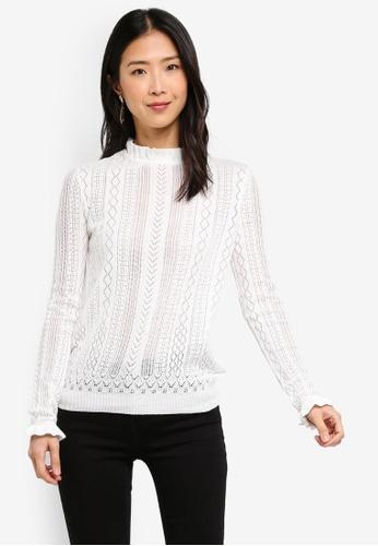 27f5b3edc288a Buy Vero Moda Astia LS Ruffle Neck Blouse Online on ZALORA Singapore