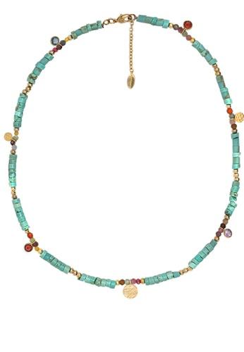 HIPANEMA blue Necklace Hipanema Carthagene turquoise E51D8AC8CA36A7GS_1
