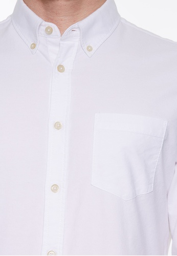 United Colors of Benetton white Long Sleeves Shirt 52B7BAAE2F4AE3GS_1