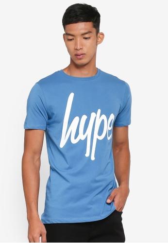 Just Hype blue Script T-Shirt 2E898AA9565981GS_1