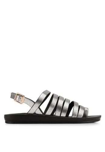 Noveni silver Multi-Straps Sandals NO978SH0S9R9MY_1