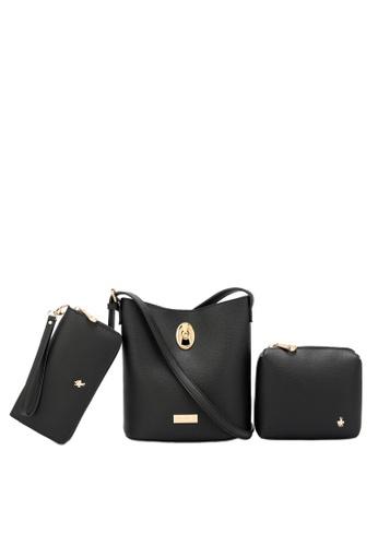 Swiss Polo black Ladies 3-in-1 Bucket Bag B1113AC3D536FAGS_1