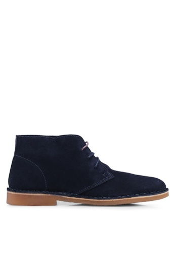 Selected Homme navy Royce Light Suede Boots 9C4F3SH64C3D9FGS_1