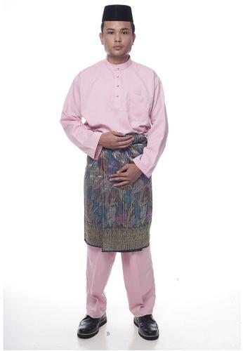 Denai Boutique pink Baju Melayu Faleeq AC060AA6222706GS_1
