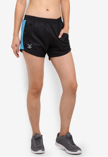FBT black and green Training Shorts with Side Pockets 5914FAA31880A2GS_1