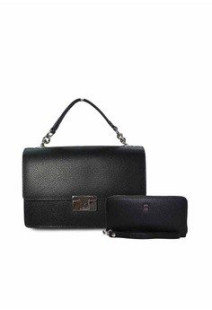 0765a1511a Valentino Rudy black Valentino Rudy Leather Handbag with Zip Around Wallet  Set 0DED8AC2C81E35GS 1