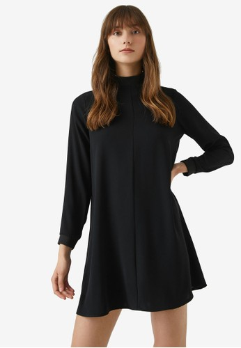 KOTON black Turtleneck Dress 2505CAAB509A83GS_1