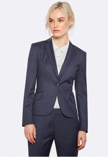 Oxford blue Pixie Check Suit Jacket 376B6AA200DF96GS_1
