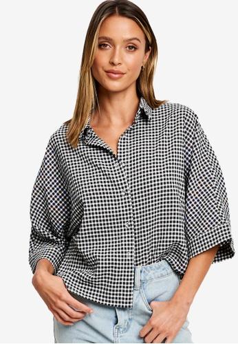 Calli black Rhianna Button Up Shirt 32156AA0721467GS_1