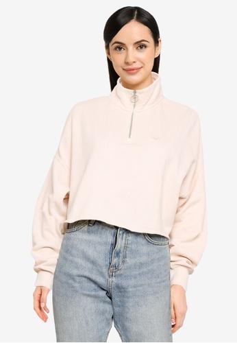 Hollister beige Icon Zip Sweater 25B3AAAFF64474GS_1