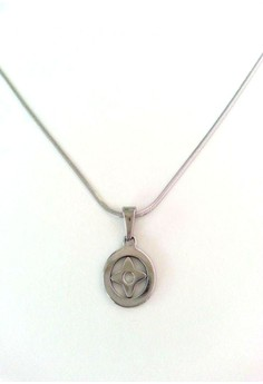 Floral Pendant Necklace Stainless Steel