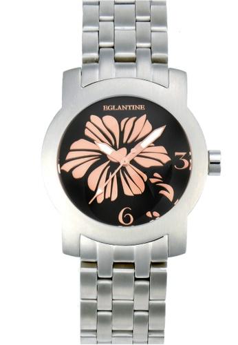 EGLANTINE black and silver EGLANTINE® Bauhinia Ladies Steel Quartz Watch on Steel Bracelet B5C23ACC015062GS_1