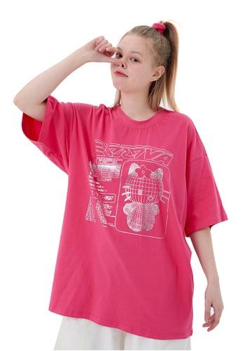 Twenty Eight Shoes Trend Cartoon Printed Short T-shirt HH1024 23F1AAACF4F79EGS_1