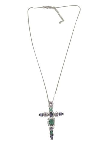 Multicolor Cross Pendant Necklace