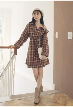 ade95ef25e5 54% OFF Tokichoi Plaid Off-Shoulder Dress RM 149.00 NOW RM 68.90 Sizes S M