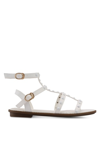 a6100a2396fd Buy Nose Round Stud Ankle Strap Sandals Online on ZALORA Singapore