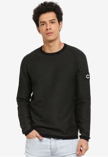 Jack & Jones green Grand Knit Crew Neck A058AAA3C0AD61GS_1