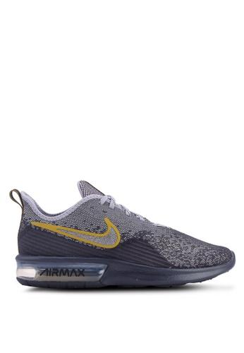 Nike grey Nike Air Max Sequent 4 Shoes 56046SH78E3969GS_1