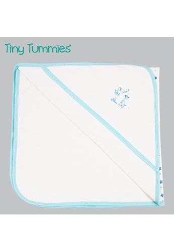 Tiny Tummies white Receiving Blanket EDEF8KC90A495DGS_1
