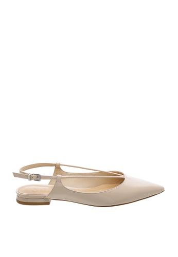 SCHUTZ white SCHUTZ Sling-back Flat Shoes - JOANA (TANINO II) 19F1DSH28C4A84GS_1
