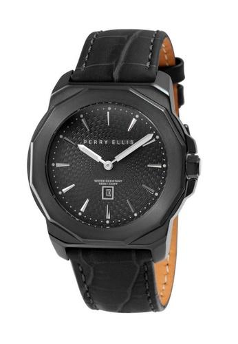 PERRY ELLIS black Perry Ellis Decagon Unisex 42mm Quartz Watch 08007-01 B9FD1AC6672F29GS_1