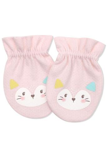 Organic mom pink Organic Pinky Fox Mittens (FALL/WINTER) 337E7KCA7A35BFGS_1