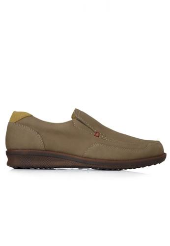 Gino Mariani beige Gino Mariani Men's Leather Shoes GERALDO  - KHAKI 8D701SH40F26DAGS_1