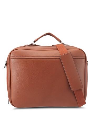 ZALORA brown Pebbled Laptop Bag E5962ACFA71F91GS 1 0c4520ff93dd
