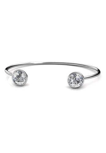 Her Jewellery Duo Luminous Bangle - Embellished with Crystals from Swarovski® EB79AACCC35295GS_1