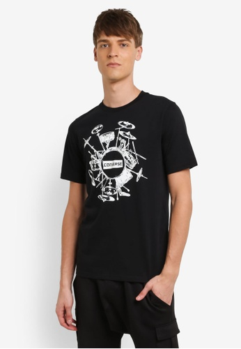 Converse black Graphic T-Shirt CO302AA0RM8HMY_1