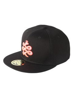 Baem Korea Pink Logo Snapback Black Street K-Pop Fashion Cap