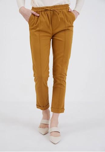 Berrybenka Label brown Sophie Marra Knot Pants Light Brown 3E764AA72481E4GS_1