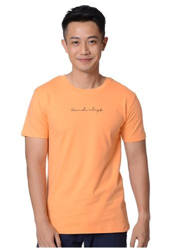 Praise orange Wanderlust Script Graphic Tee 02C41AA396D069GS_1