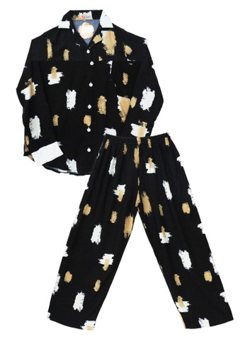 Tahlia black Piyama Tie Dye Tahlia One Set Pyjamas 1CCDAAA71706C6GS_1