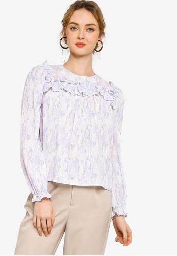 Lubna purple Ruffles blouse 30892AAC751890GS_1