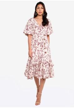 16330221f470 BYSI white Floral Print Overlap Dress B365DAA7580F32GS_1