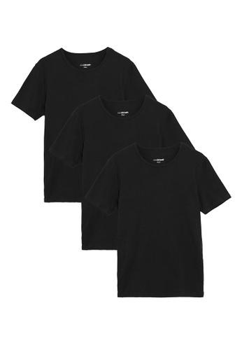 MARKS & SPENCER black M&S 3Pk Cool & Fresh T-Shirt Vests 955EBAA6260CFFGS_1