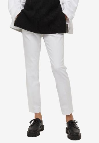 H&M white Cigarette Trousers A10DAAAFA7F03BGS_1