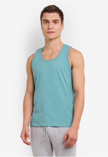 ZALORA green Crew Neck Tank Top 29AD9AA1052DD6GS_1