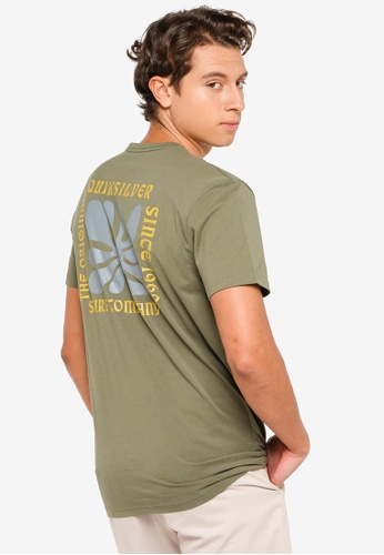 Quiksilver green Endless Nights T-Shirt 3B6C4AA85BFED3GS_1