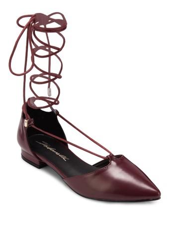 纏繞繫帶平底鞋, 女鞋esprit台灣, 鞋
