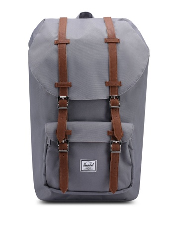 Herschel grey Little America Backpack HE305AC72YFRSG_1