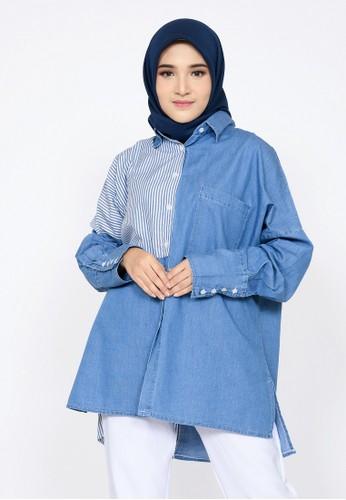 ZAHRA SIGNATURE blue Tunik Denim Jillian AA33DAA4A5F6AEGS_1