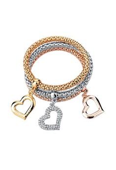 Open Heart Charm Bracelets by ZUMQA