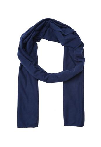 Trendyol blue Indigo Cotton Scarf EB7D3AA65F8A32GS_1