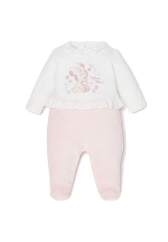 OVS white Disney Minnie Mouse Embroidery Onesie 4222CKAEDE69D1GS_1